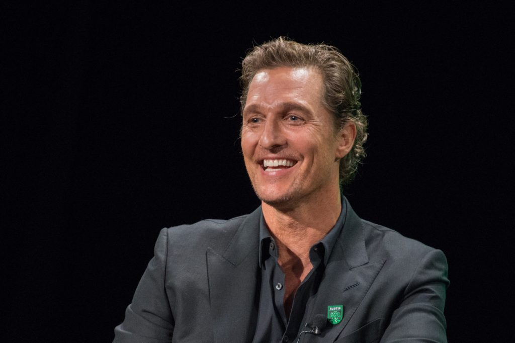 Matthew McConaughey smiles during an interview