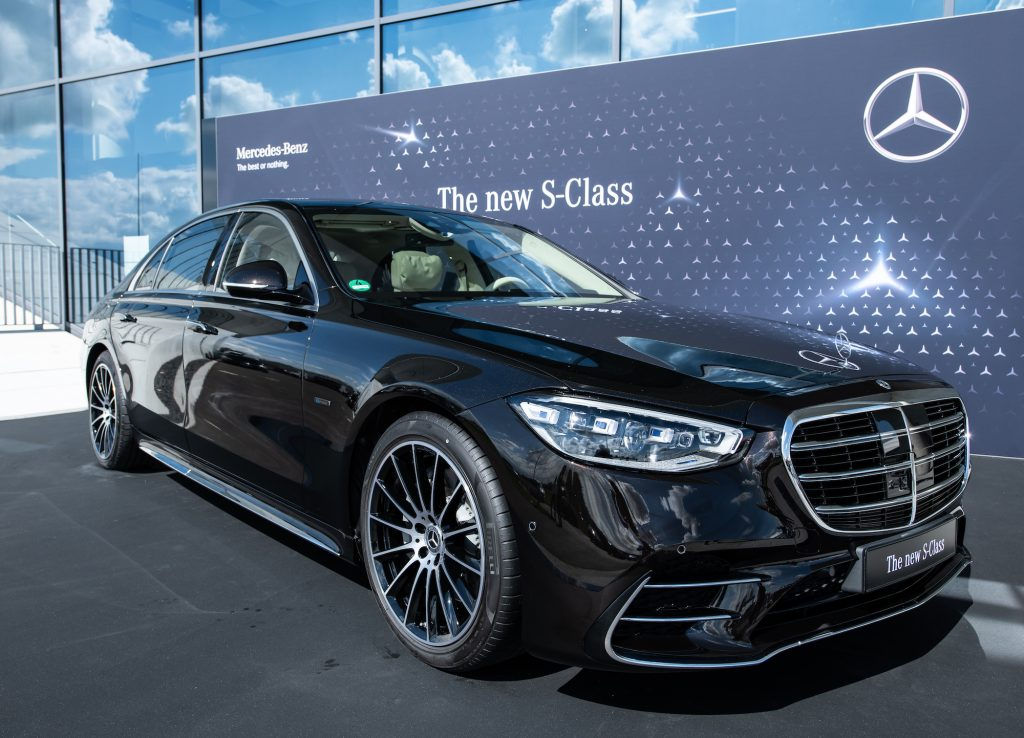 """The new S-Class at its world premiere at the """"Factory 56"""""""