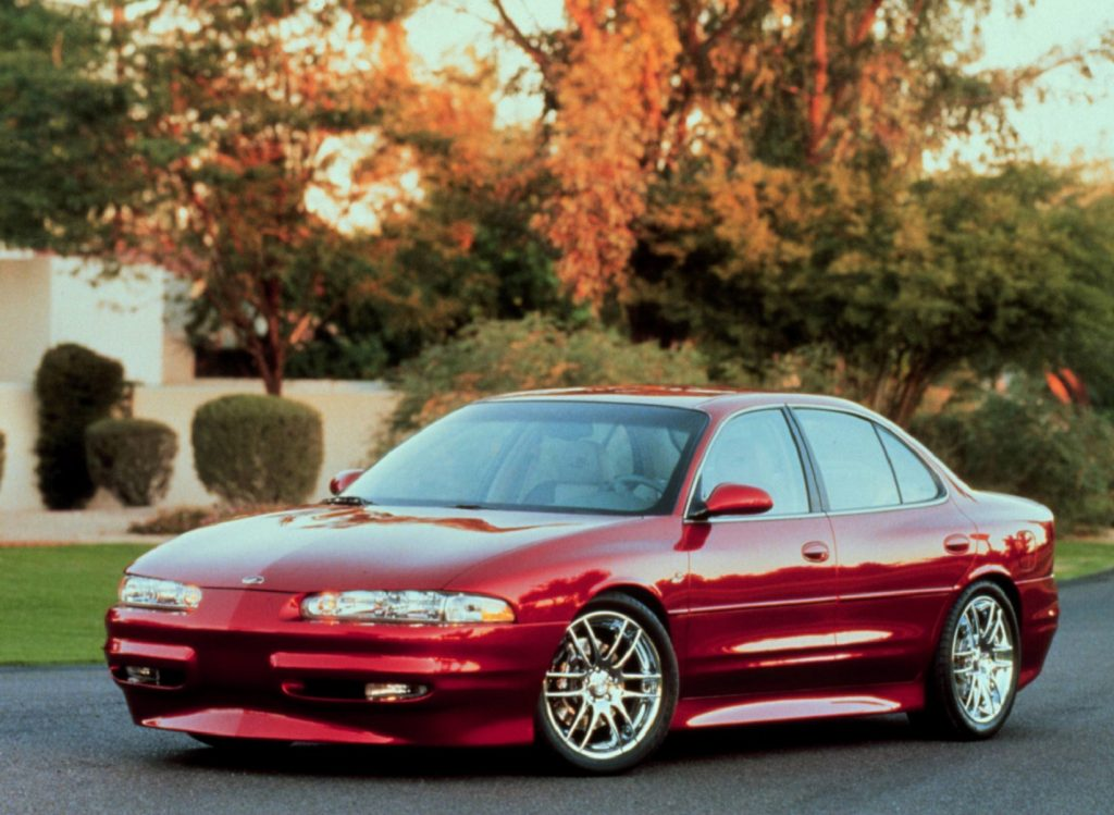The red Oldsmobile Intrigue OSV