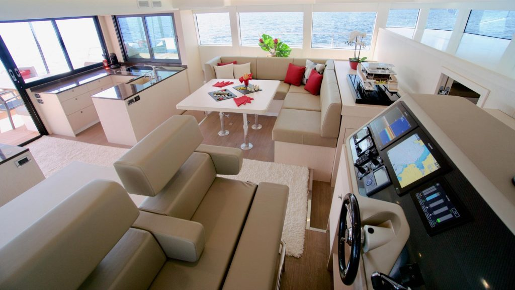 The main deck of the Silent-Yachts Silent 55