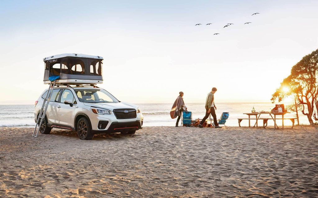 2021 Subaru Forester at the beach