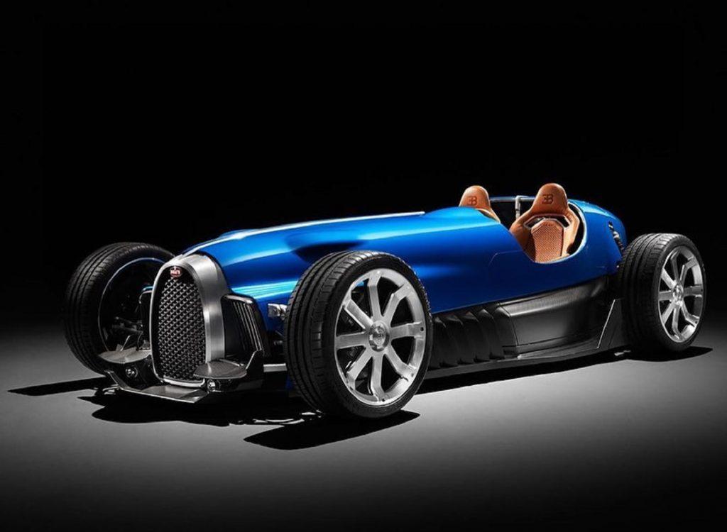 The blue Uedelhoven Studios' Bugatti Type 35 D concept