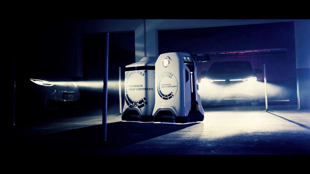 Volkswagen mobile charging robot EV charger