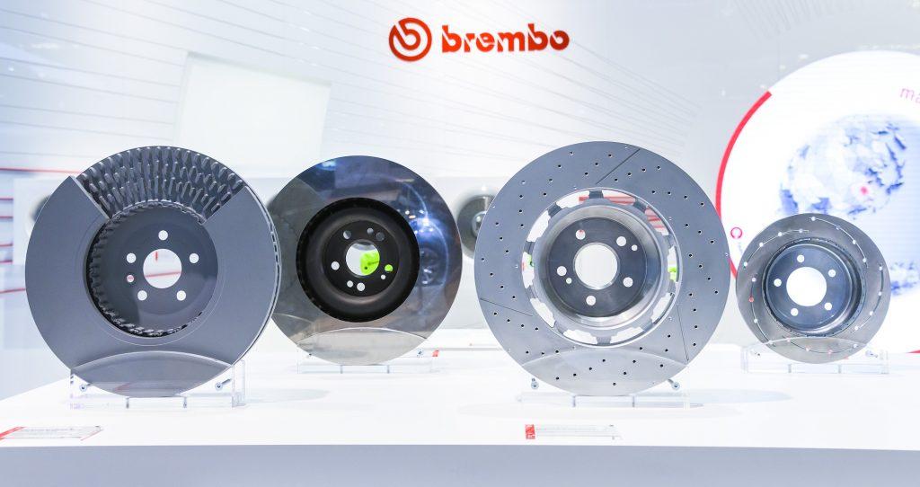 Brake discs of the brake manufacturer Brembo