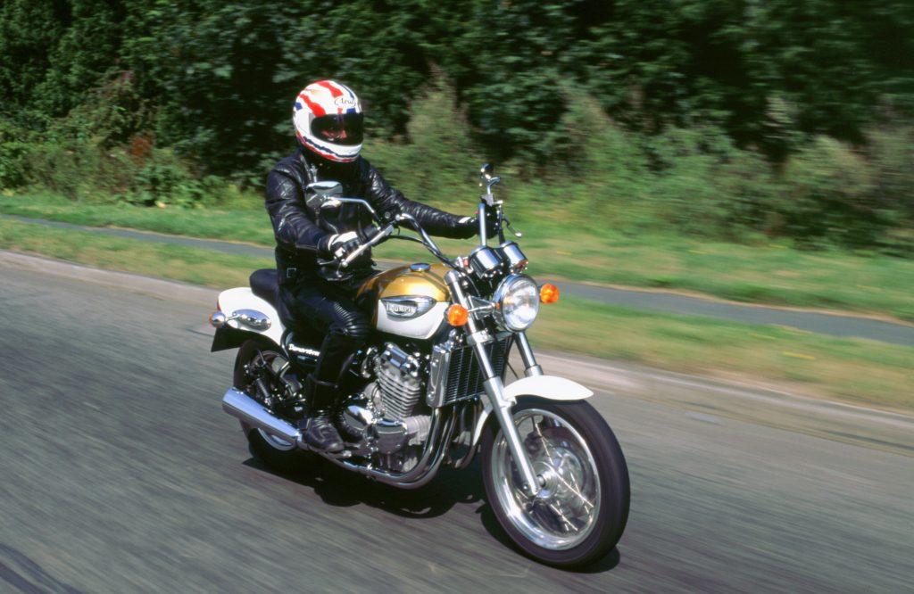A rider on a cruiser bike
