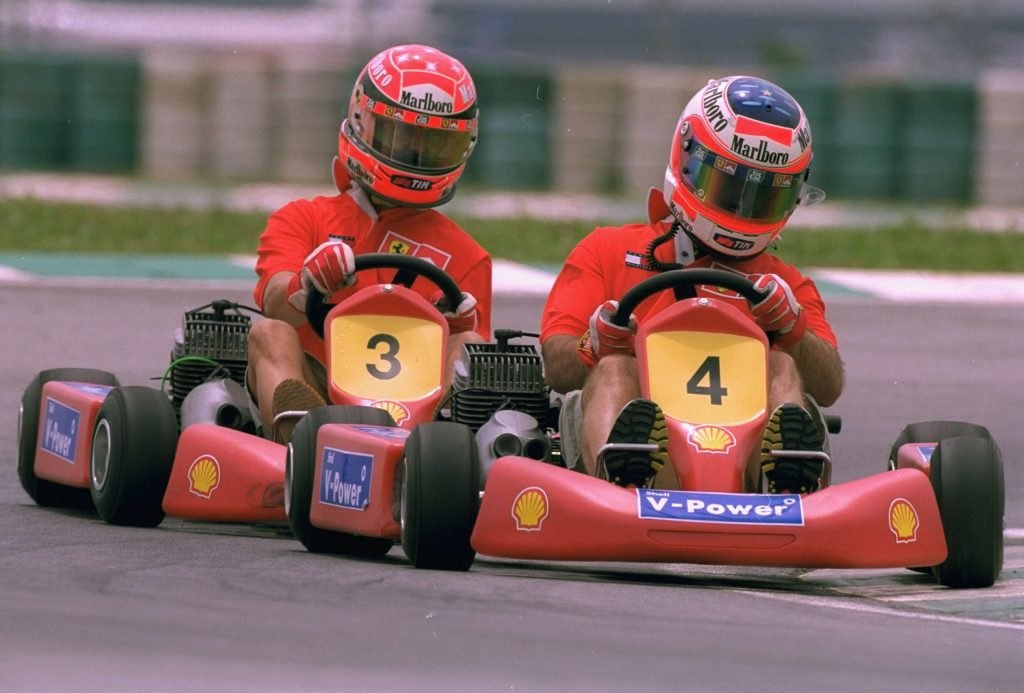 two red go-kart racers
