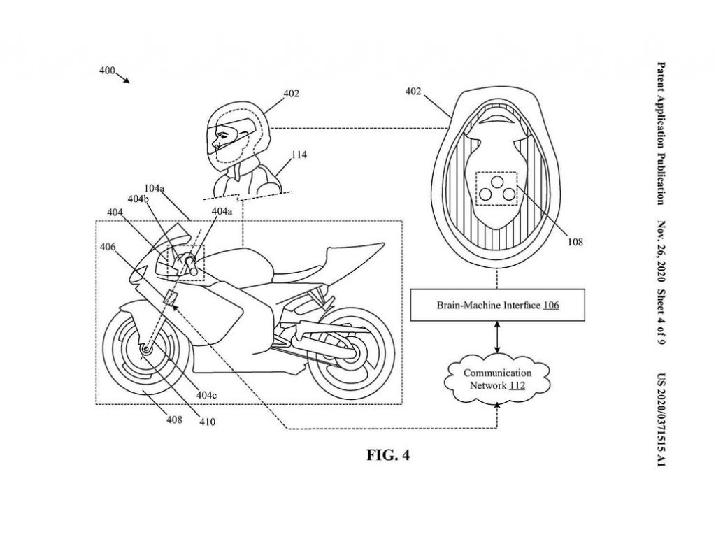 The schematic for the helmet with built-in electrodes