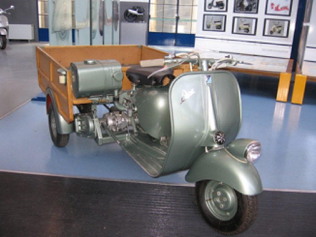 The original green 1948 Piaggio Ape