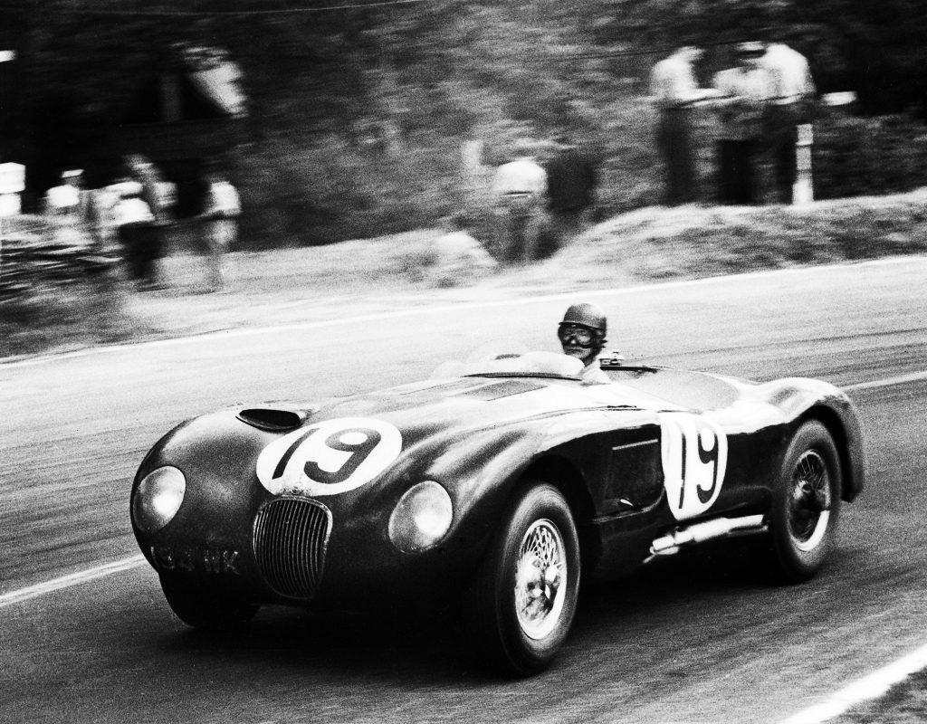 The No. 15 1953 Jaguar C-Type at Le Mans
