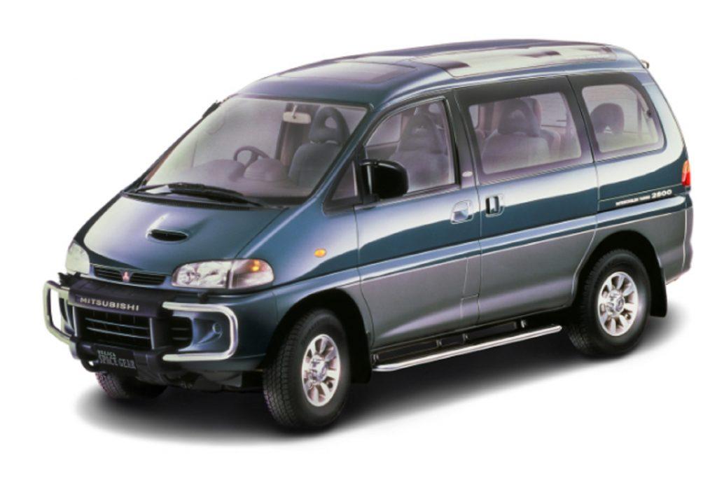 A green 1994 Mitsubishi Delica Space Gear L400