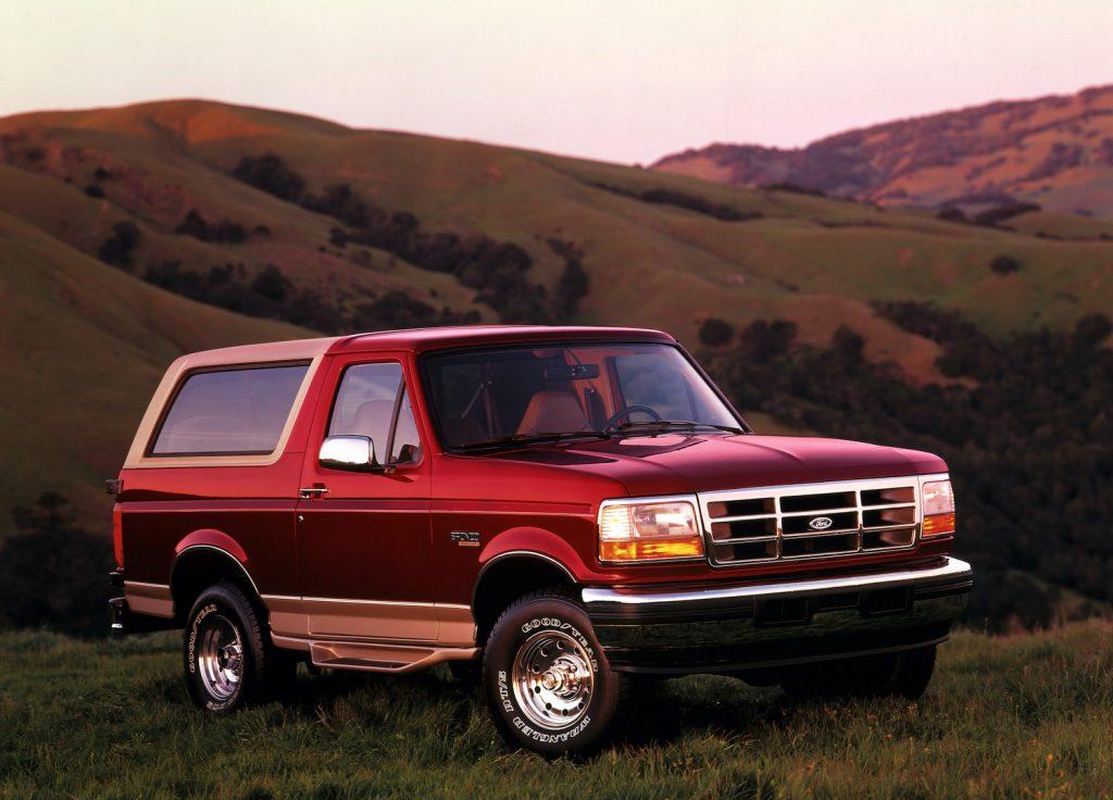 1996 Ford Bronco Eddie Bauer edition parked