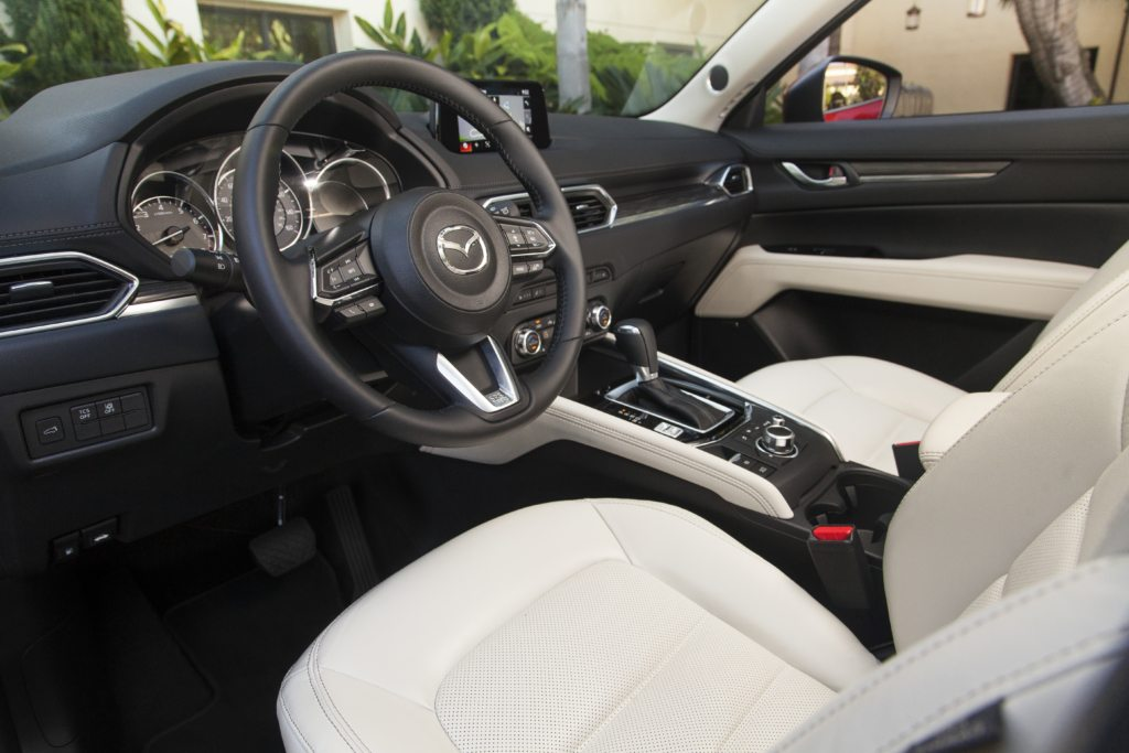 Cockpit area of the 2017 Cx-5.