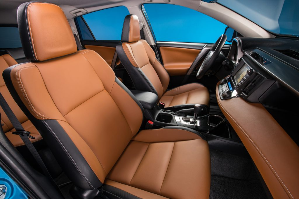 A look at the interior of the 2017 Toyota RAV4 Hybrid Limited