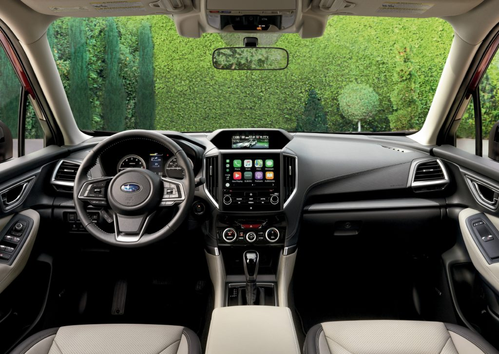 The 2019-2021 Subaru Forester's expansive windshield