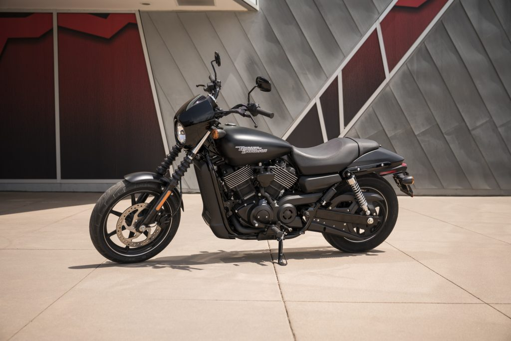 A black 2020 Harley-Davidson Street 750
