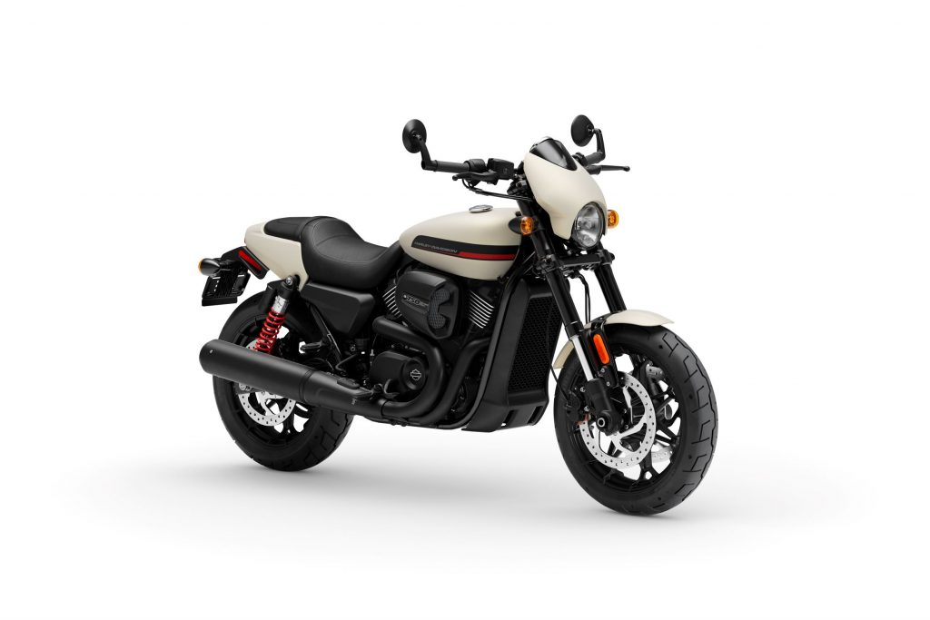A white 2020 Harley-Davidson Street Rod