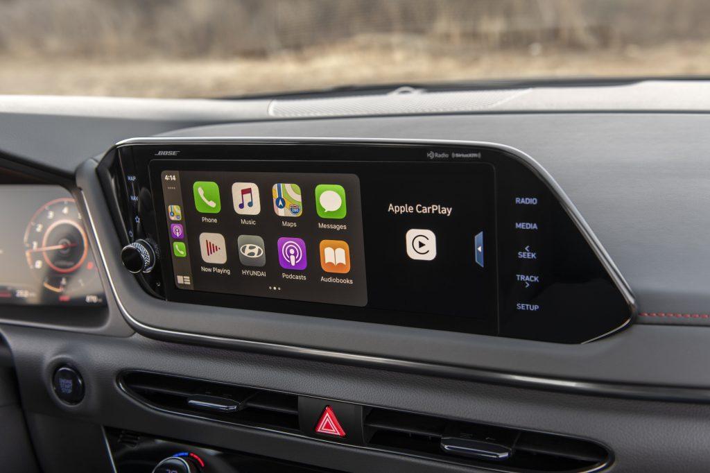 2021 Hyundai Sonata N Line infotainment screen