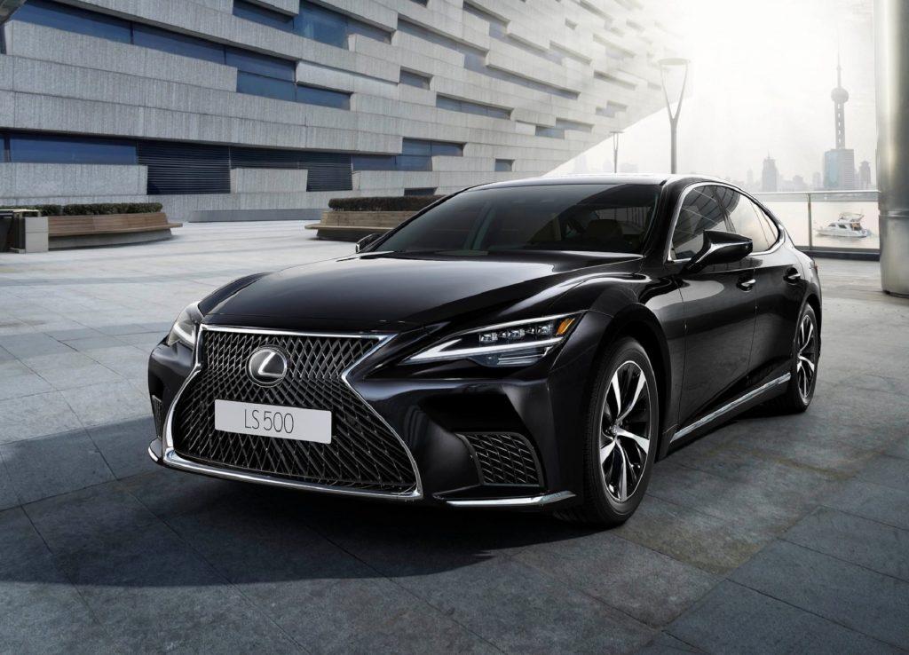 A black 2021 Lexus LS 500