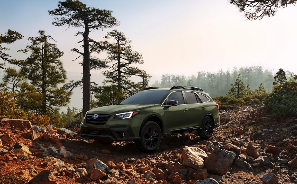 2021 Subaru Outback in the wilderness
