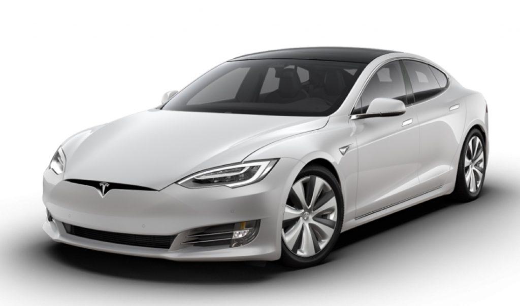 A white 2021 Tesla Model S Long Range Plus
