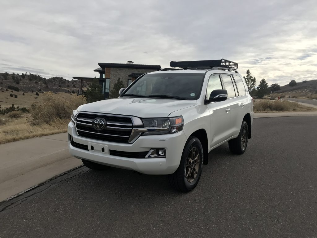 2021 Toyota Land Cruiser in a residential street