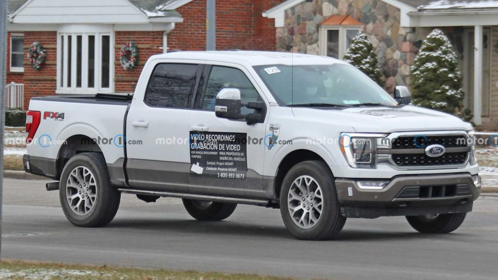 2021 Ford F-150 spied with possible magnetic paint