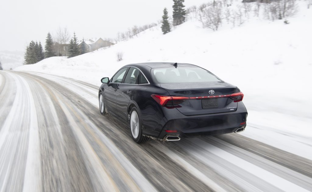 2021 Toyota Avalon Limited driving in snow