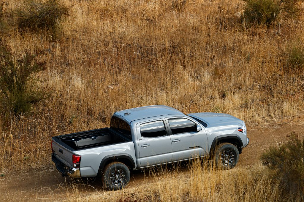 2021 Toyota Tacoma in a field