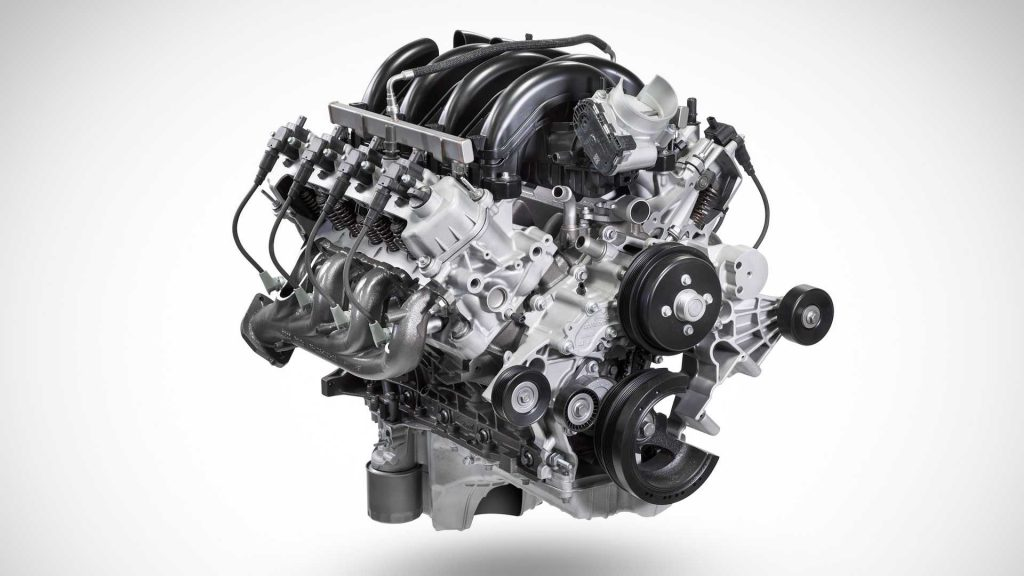 """Ford and Blue Bird are working together to put this 7.3-liter Pushrod V8 """"Godzilla"""" crate engine into school buses"""