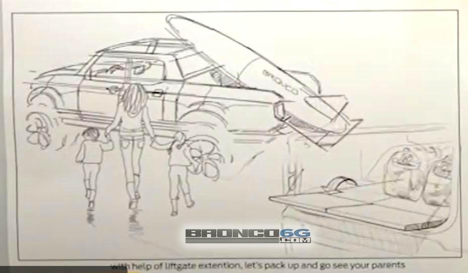 Bronco Pickup Truck Sketch