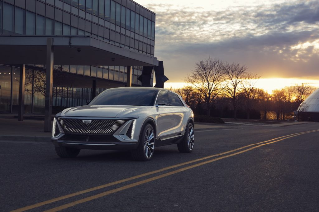 The Cadillac Lyriq is an electric vehicle that will be featured in one of two Super Bowl ads GM has planned for this year's game.
