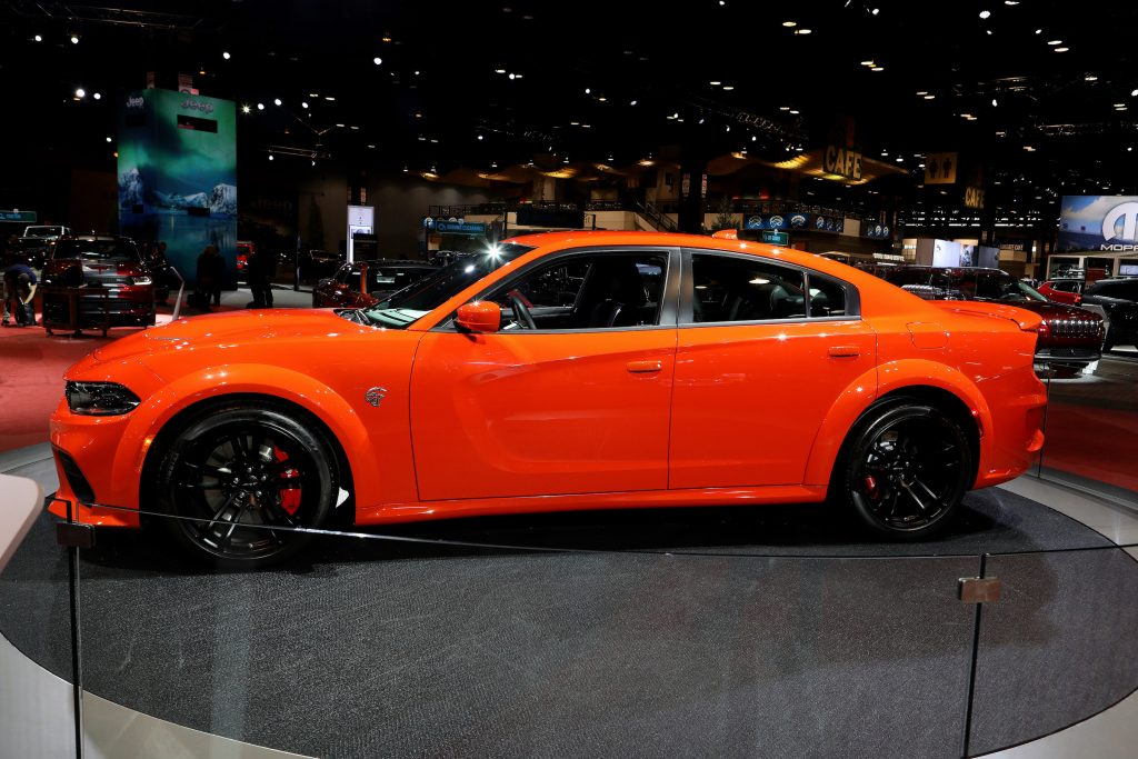 2020 Dodge Charger SXT is on display at the 112th Annual Chicago Auto Show at McCormick Place