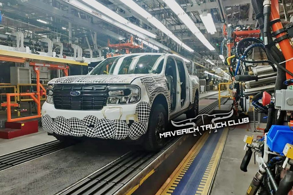 2022 Ford Maverick being manufactured