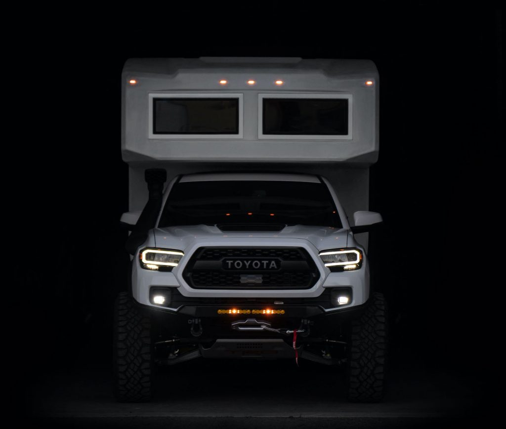 The Toyota Tacoma TruckHouse BCT parked