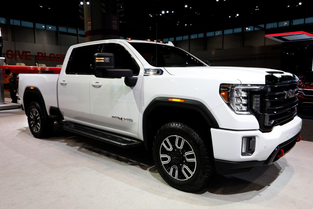 020 GMC Sierra AT4 HD is on display at the 112th Annual Chicago Auto Show at McCormick Place