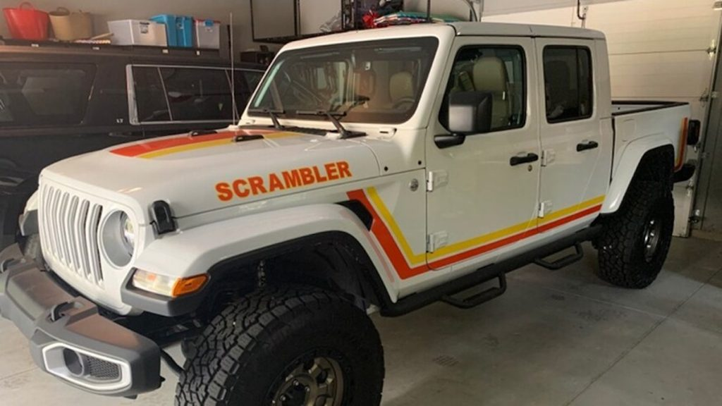 2021 Jeep Gladiator With CJ-8 Scrambler decal package
