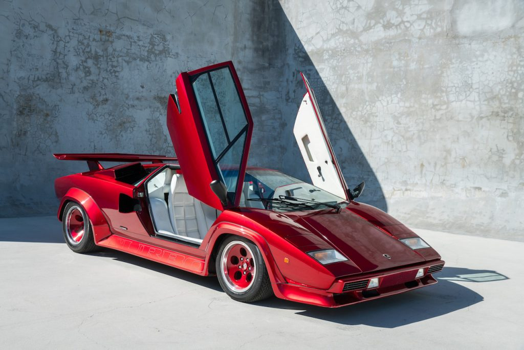 An image of an ultra-rare Lamborghini Countach Turbo S in Miami.