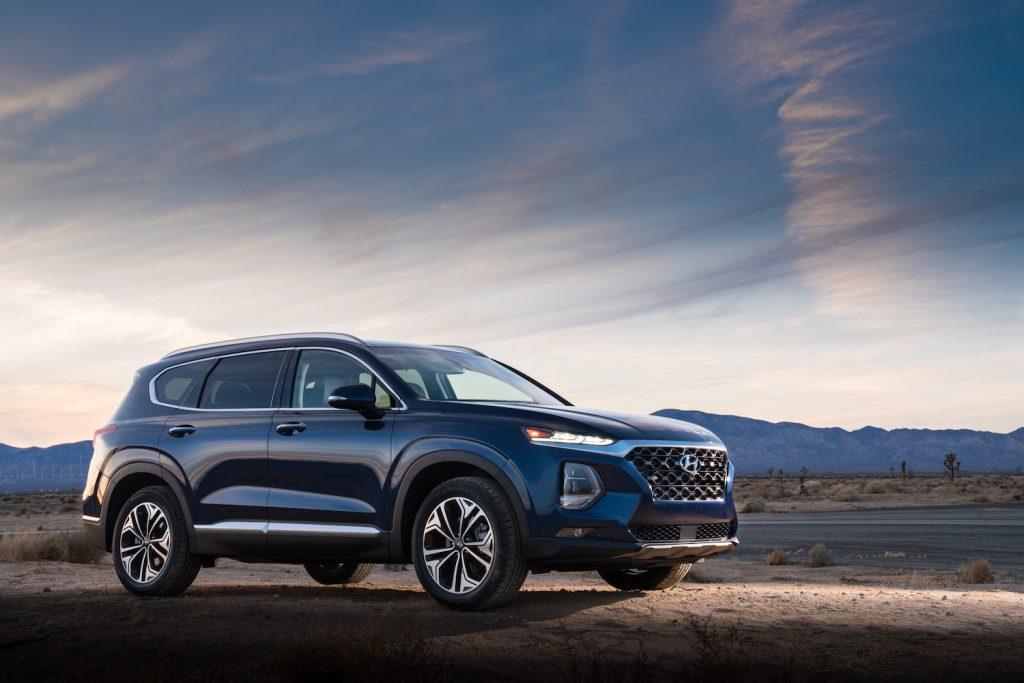 2020 Hyundai Santa Fe parked