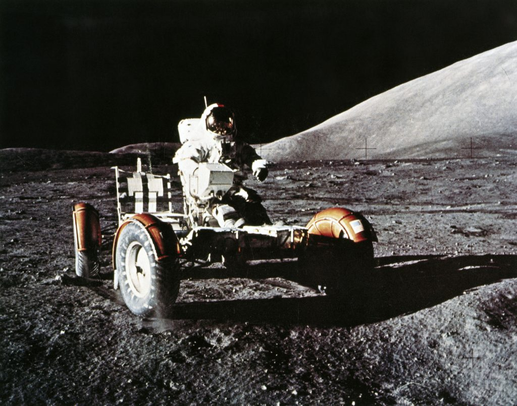 The Lunar Rover was an electric vehicle (EV).