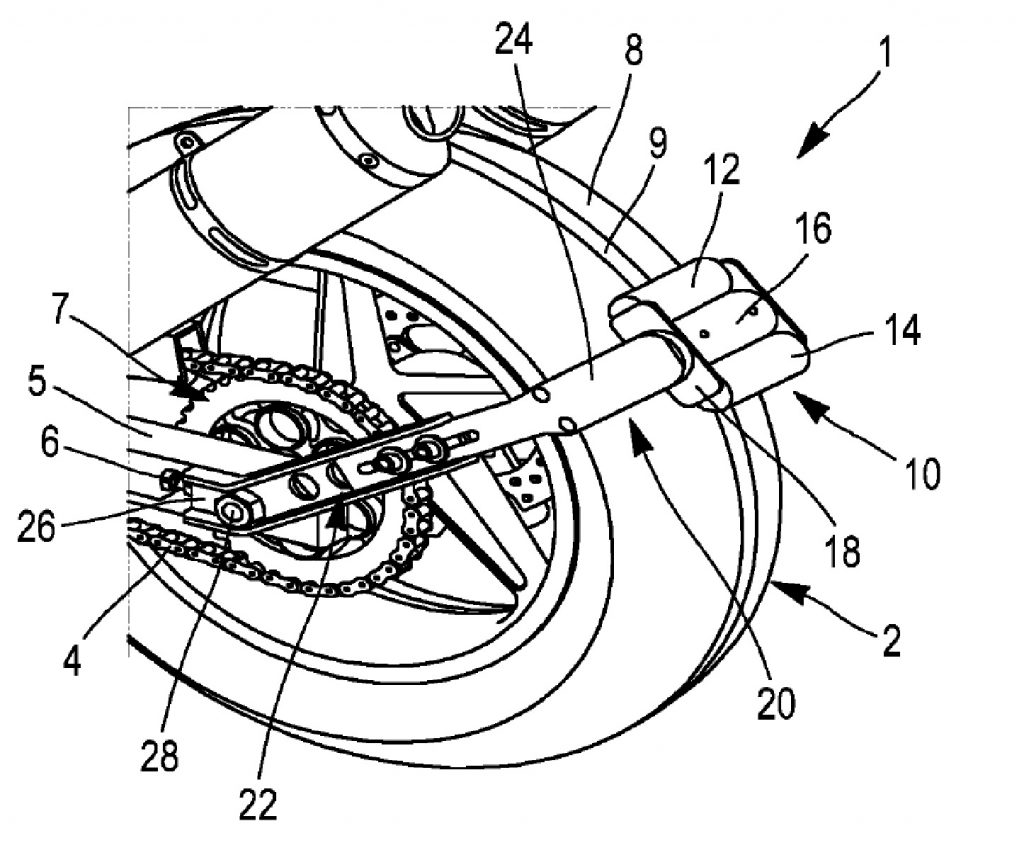 The diagram of Michelin's electric reverse motorcycle motor patent
