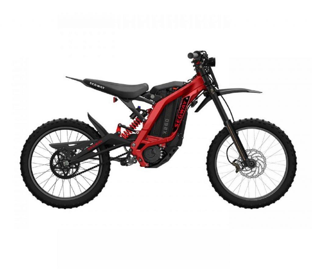 A black-and-red Segway eBike X260 dirt bike