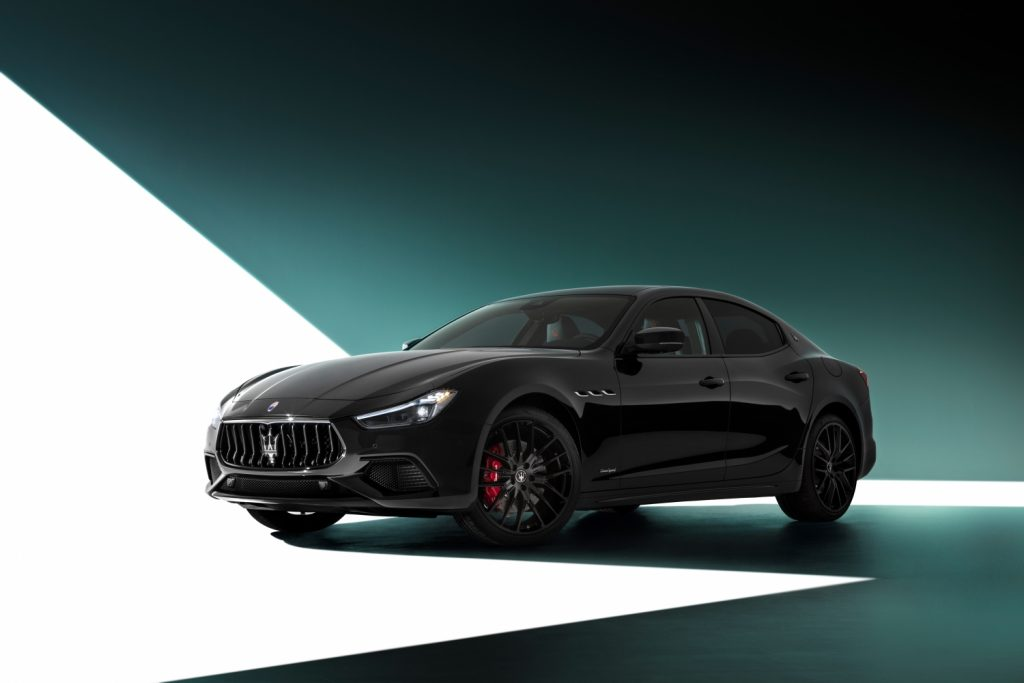 An image of a 2021 Maserati pictured in a studio.