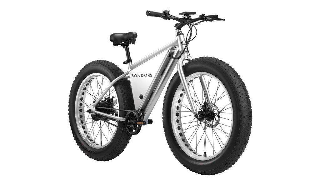 A white Sondors X e-bike