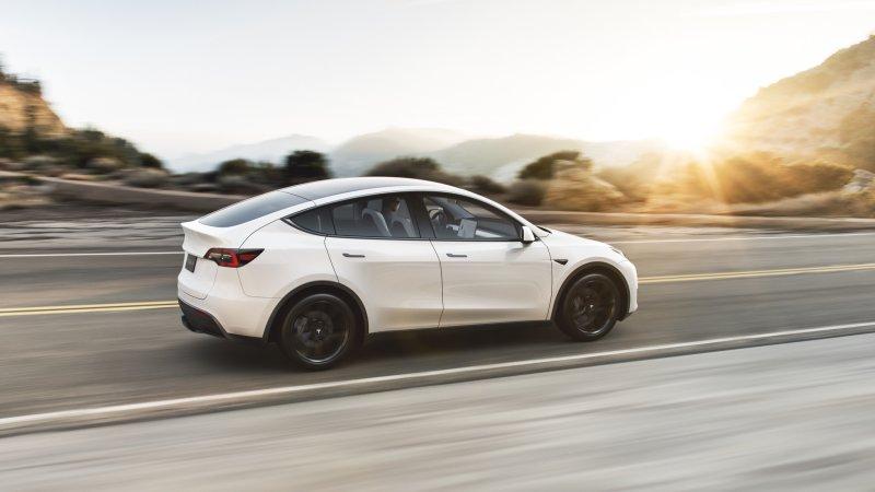 2021 Tesla Model Y driving