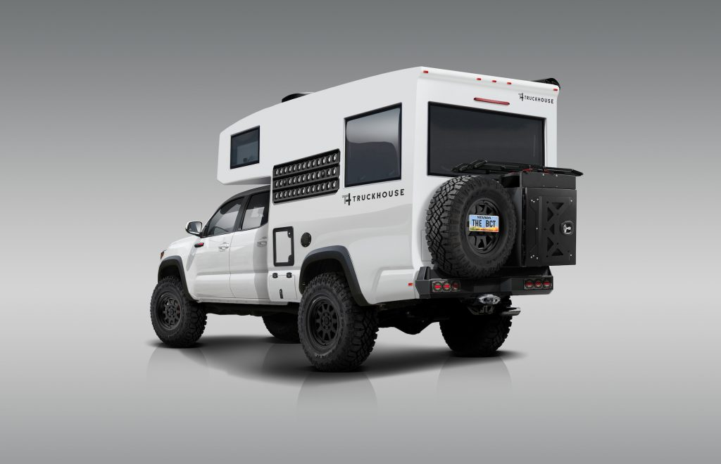 BCT overlanding camper based on a Toyota Tacoma TRD. Theses are about half the price of an EarthRoamer
