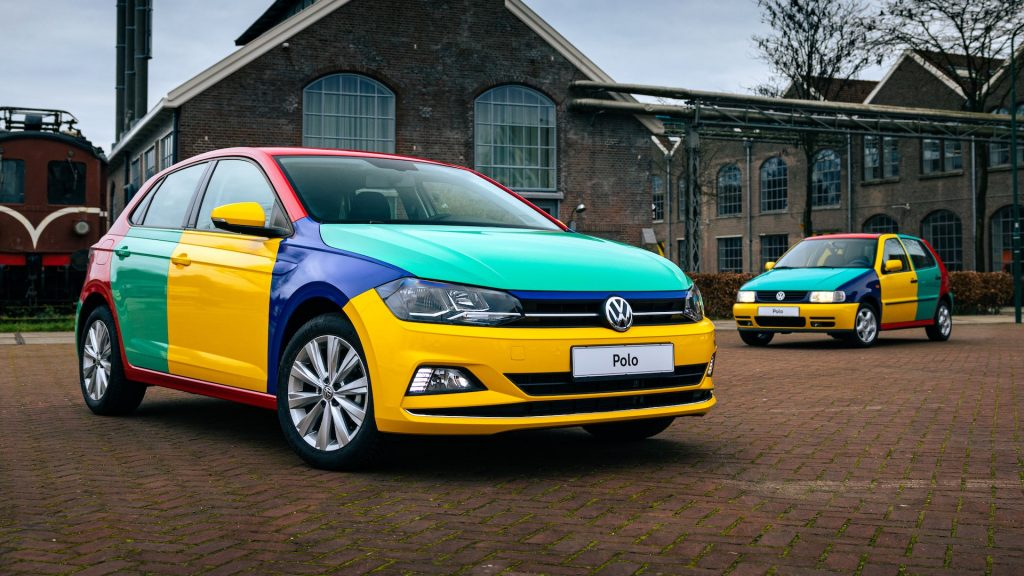 2021 Harlequin VW Golf is a mix of colors