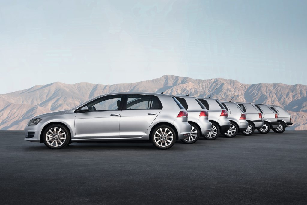 The range of Volkswagen Golfs