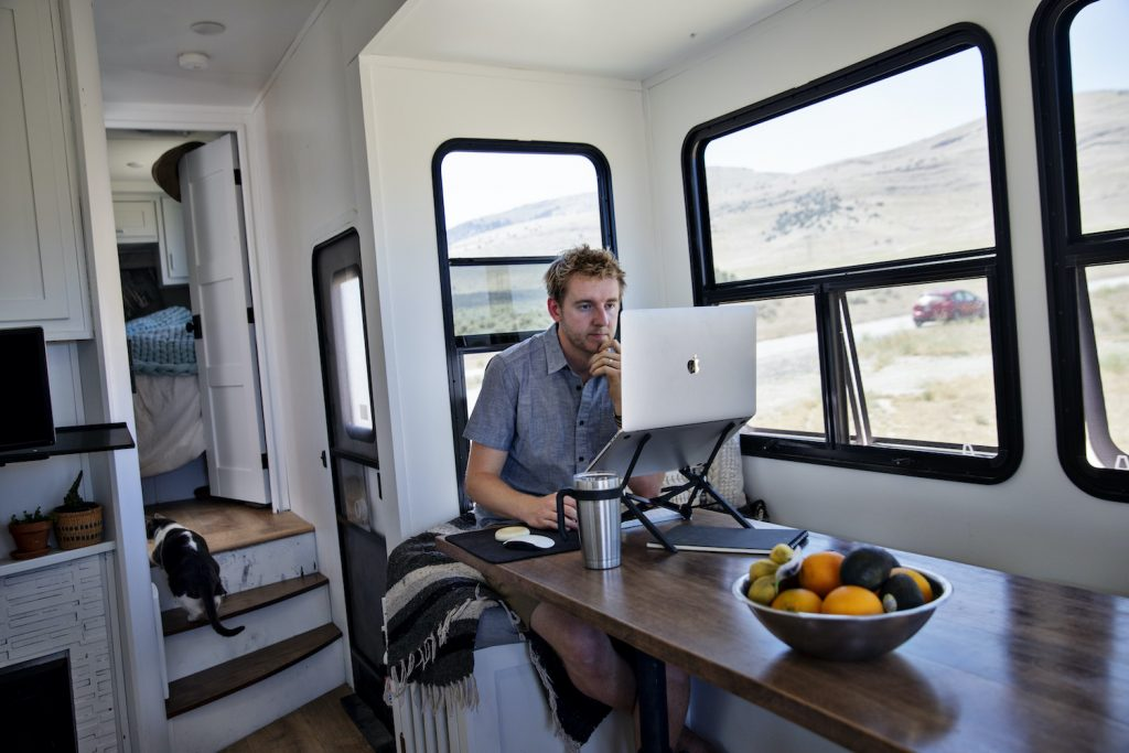 Working remotely from an RV