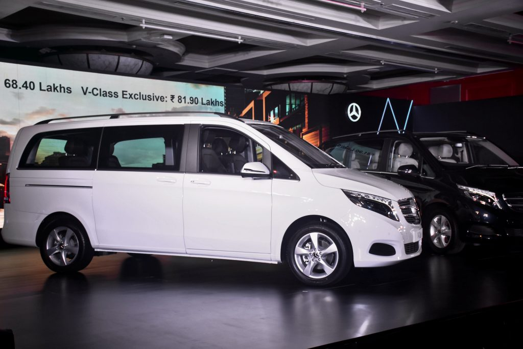 Newly launched V-class cars seen during the launch | Getty