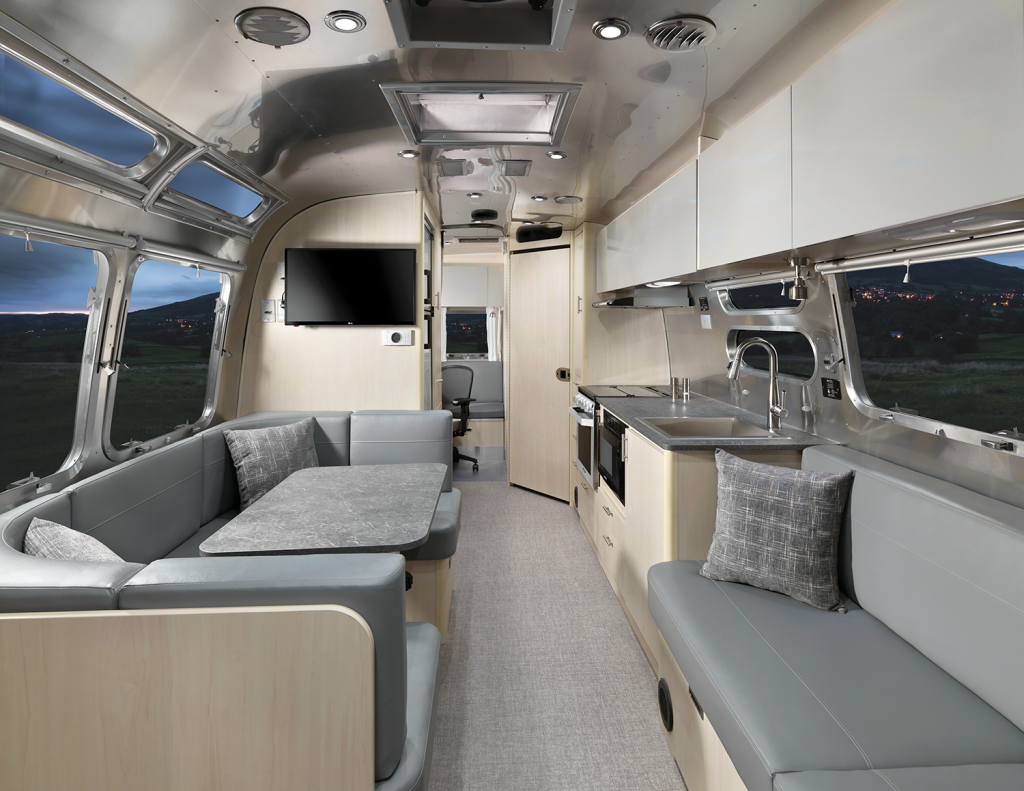 Airstream Flying Cloud 30 FB Office Travel Trailer Office Interior